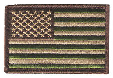 "United States flag 3""wx2""h woodland multi-cam stars left US3x2woodL patch"
