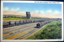 HIBBING MN ~ 1940's HULL RUST MINE ASSEMBLY YARDS ~ RAILROAD CARS FULL OR IRON
