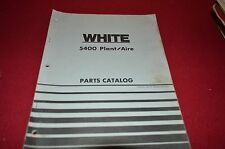 White Oliver Tractor 5400 Planter Dealer's Parts Book Manual BVPA