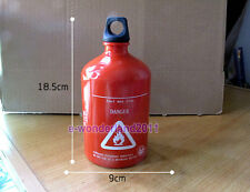 30oz 1000ml Hot sale Red Spare Fuel Bottle Aluminum Gas Can /Diesel/ Petrol