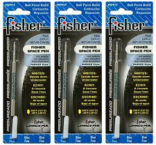 THREE Fisher SPR Series Blue Ink / Fine Point Refills #SPR1F