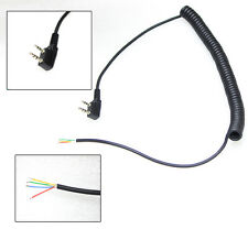 2 pin 4 Wire Speaker Mic Cable Line for Baofeng UV5R Kenwood TK370 Linton