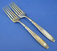International Silver Ambassador 2 Indented Dinner Forks Silverplate Rogers
