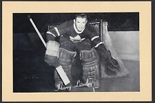1945-1964 Beehive Group II 2 Hockey Harry Lumley Goalie Toronto Maple Leafs HOF