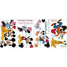 DISNEY MICKEY MOUSE 32 BiG Wall Stickers PLUTO GOOFY MINNIE Room Decor Decals