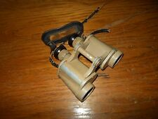 WW2 German Wehrmacht DAK 6x30 ddx TAN Binoculars - w/ Strap and Rain Shield