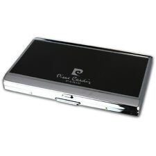 NEW PIERRE CARDIN SMALL CIGARETTE CASE - MATT BLACK