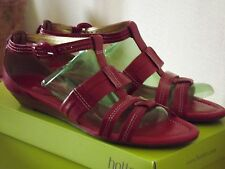 LADIES CLARKS SIZE 7/40 SHOES SANDALS DARK RED  STRAPPY WORN TWICE ONLY