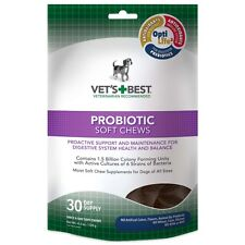 Vet's Best Probiotic Soft Chews Supports Dog Digestive Health 30 ct