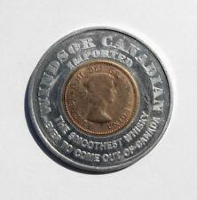 Aluminum Encased 1963 Lucky Canada Penny Token Windsor Canadian Whiskey