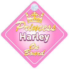 Corona Princesa Harley A Bordo Personalizado Baby Girl Coche Señal