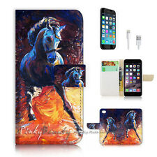 iPhone 7 (4.7') Flip Wallet Case Cover P2322 Horse