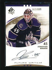JONATHAN BERNIER 2007/08 SP AUTHENTIC #219 ROOKIE AUTOGRAPH AUTO #162/999 AB6003