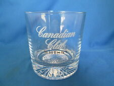Canadian Club Whisky Whiskey On The Rocks Glass Starburst Cut Bottom