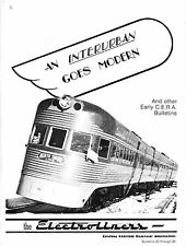 An Interurban goes modern and others CERA Bulletins 1941-1942 RARE Tramways