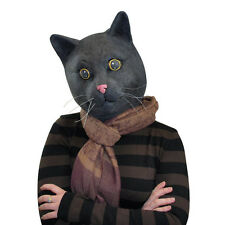 Halloween Cosplay Adult Costume Black Cat Kitty Kitten Animal Head Mask Toys