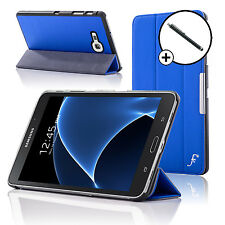 Leather Blue Folding Smart Case Cover Samsung Galaxy Tab A 7.0 SM-T280 Stylus