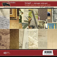 7Gypsies SERENGETI 6x6 Dbl-Sided Paper Pad (48) sheets Travel scrapbooking
