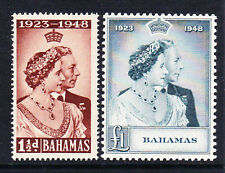 BAHAMAS 1948 ROYAL SILVER WEDDING SG 194-195 MNH.