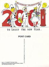 2001 NON STANDARD PILLAR BOX 1853 NEW YEAR WICKS ADVERTISING COLOUR POSTCARD