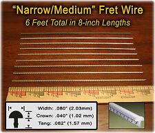 6 FEET of Narrow/Medium Frets/Fret Wire for Dulcimer, Banjos & more! 10-13-01
