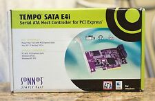 Sonnet Tempo E4i Serial ATA SATA II Host Controller PCIE Card for Power Mac NEW!