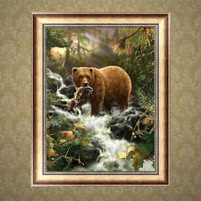 DIY Bear Animal 5D Diamond Embroidery Painting Cross Stitch Home Decor Crafts