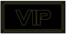 "VIP Very Important Person Black Gold Velour Beach Towel (30""x60"")"