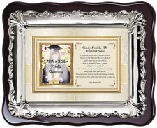 Picture Frame Nursing School Graduation Gift or Nurse Practitioner RN BSN Plaque