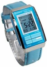Casio LA-201WBL-2A Futurist Blue Leather Band Chronograph Womens Watch LA-201