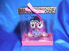 Macy's Betsey Johnson Pink Owl +tutu hearts Collectible Christmas Ornament