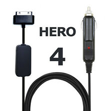 GoPro Hero 4 Camera 12V Cigarette Lighter Power Cord Battery Eliminator Adapter