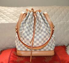 AUTHENTIC, VERY NICE LOUIS VUITTON DAMIER AZUR NOE GM/BUCKET DRAWSTRING BAG