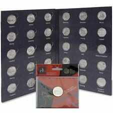 2012 Olympic 50p Sports COIN ALBUM Folder + Royal Mint Completer Medallion Medal