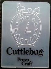 Cuttlebug Small Embossing Folder HEART ALARM CLOCK fits Sizzix Big Shot