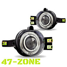 For Dodge Ram Durango Halo Clear Projector Lens Chrome Housing Fog Lights Lamps