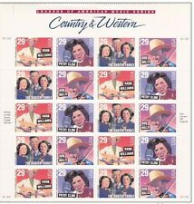 USA**COUNTRY MUSIC LEGENDS-PATSY CLINE/HANK WILLIAMS-SHEET 20stamps-1992-MNH