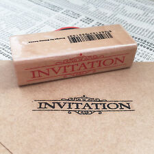 Invitation Wooden Rubber Printing Stamp Wedding Stationery Party Envelope Card