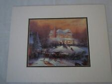 "Thomas Kinkade Victorian Christmas II 14""X11"" print certificate authenticity"