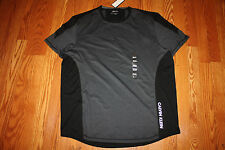 NWT Mens CALVIN KLEIN Crew Neck Black Gray Short Sleeve Performance Shirt 2XL