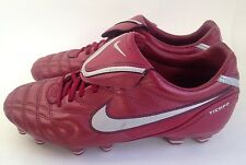 Nike TIEMPO Legend III SG RED Soccer Cleats Shoes Football Boots MENS 40.5 7.5