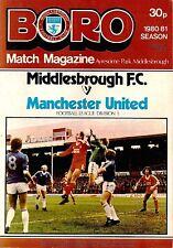 Middlesbrough v Manchester United - Division 1 - 1980/81