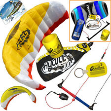 HQ Hydra II 300 3M Water Trainer Kite Kiteboarding Foil + 2nd Control Bar Kite