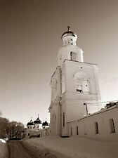 BELL TOWER ORTHODOX PRIORY SEPIA PHOTO ART PRINT POSTER PICTURE BMP1356A