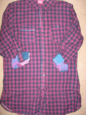 NEW WOMENS CLOTHES ANIMAL LONG SLEEVE / ROLL BACK CHECK SHIRT LONG UK SIZE 8