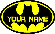 Batman Custom Personalised Name Home Wall Art Stickers Kid Room Decor Mural 2