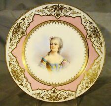 Antique Sevres First Empire Mme Du Barry Portrait Plate c1804