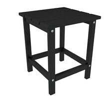 """POLYWOOD ECT18-BL Long Island 18"""" Side Table in Black NEW"""