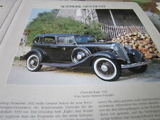 Internationales Automobil Archiv 1 Geschichte 1034a Cheberolet Eagle 1933 USA
