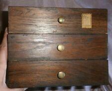 3 tiroirs en chêne & boutons en bronze pour compléter un secrétaire XIXème